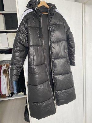 unknown Abrigo con capucha negro-blanco