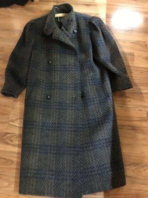 Cappotto in lana blu-grigio