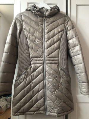 DKNY Pikowany płaszcz beżowy