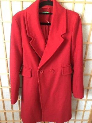 Benetton Wool Coat raspberry-red