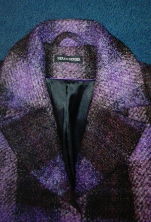 Bernd Berger Winter Coat brown violet-dark violet