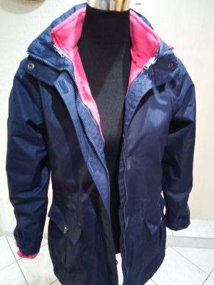 100% Fashion Manteau d'hiver rose-bleu foncé