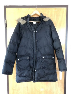 X-Mail Hooded Coat black-grey brown