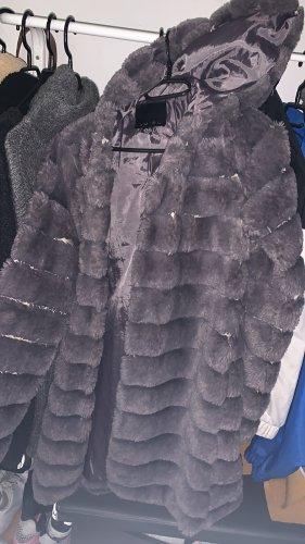 Amisu Fur Jacket silver-colored-mauve