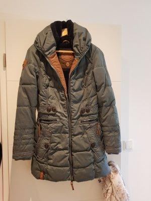 Naketano Płaszcz zimowy zielono-szary-oliwkowy