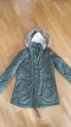 We Love Parka Winter Coat green grey