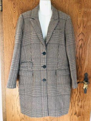 Set Płaszcz zimowy beżowy-ciemnobrązowy