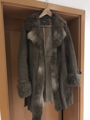 Adagio Teddy Coat grey brown polyester