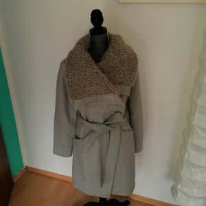 Khujo Abrigo de invierno gris claro