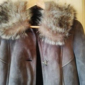 Kühne LLederwaren Collection Manteau en cuir brun cuir