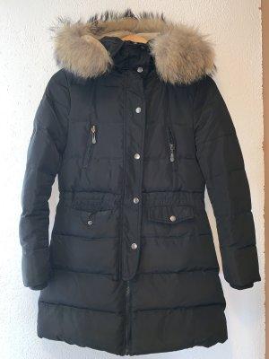 Wintermantel mit Daunenfutter und Echt Pelz Kragen