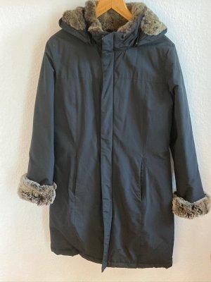 Woolrich Manteau à capuche noir nylon