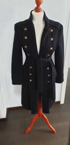Manteau long blanc-noir
