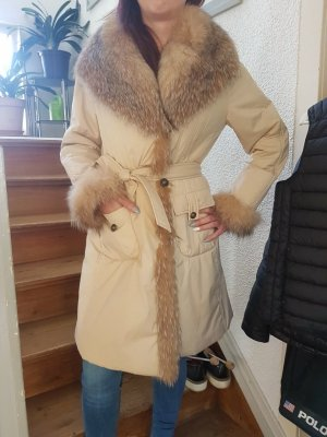 Delmod Winter Coat sand brown