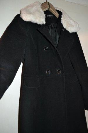Miss Selfridge Płaszcz zimowy czarny-biały