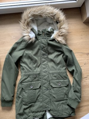 Hollister Hooded Coat khaki