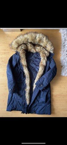 New Look Manteau à capuche bleu foncé
