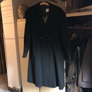 Abrigo de invierno negro Lana