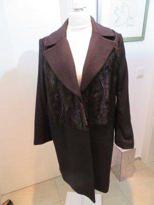 Wintermantel schwarz mit Kunstpelz ZARA knielang xl fake fur