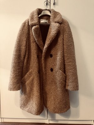 Wintermantel Teddy Optik hellbraun von Zara