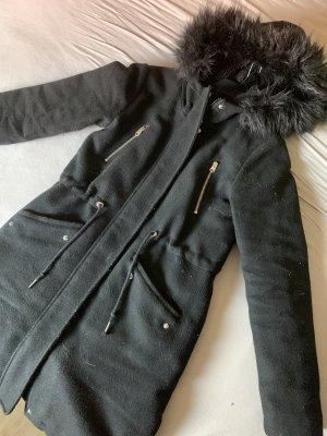 Clockhouse Hooded Coat black