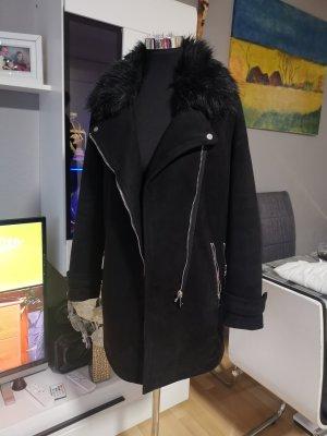 Amisu Winterjas zwart