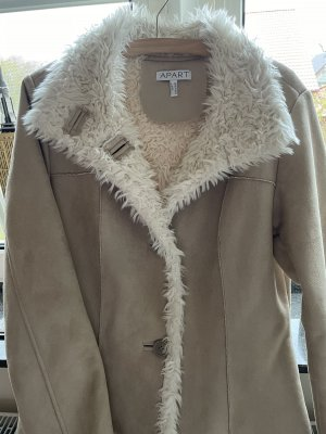 Apart Faux Leather Coat natural white-cream