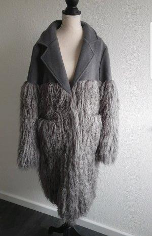 Cappotto in lana grigio