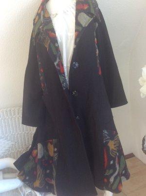 aus Italien Manteau en laine multicolore