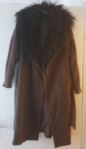 Only Wool Coat black brown-brown