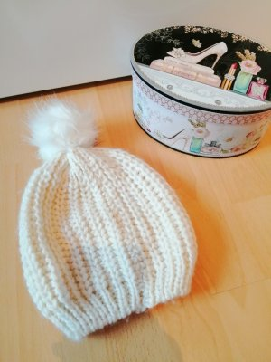 Atmosphere Cappello a maglia bianco