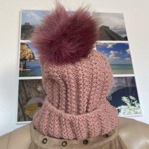 faera Sombrero de punto rosa