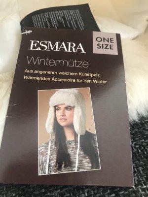 Esmara Sombrero de punto blanco