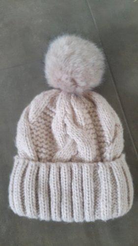 Wintermütze Bommelmütze Pudelmütze- rosé