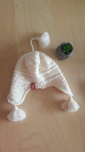Elkline Chapeau en tricot blanc cassé