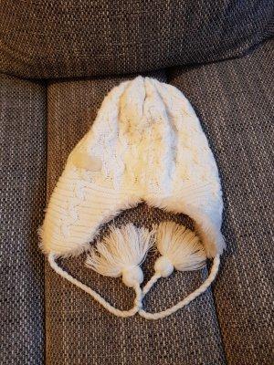 Schöffel Chapeau en tricot blanc cassé