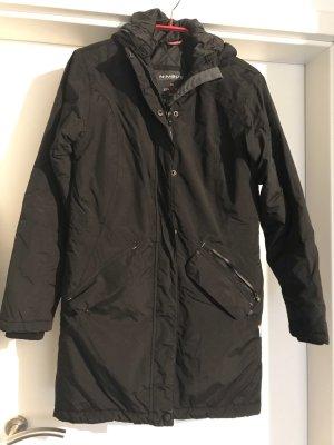 Cappotto con cappuccio nero Poliestere