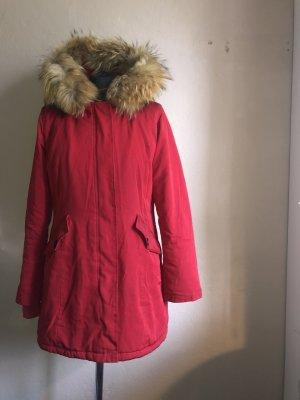 Attentif Manteau en duvet rouge