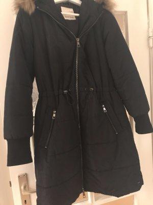 Tom Tailor Denim Cappotto con cappuccio blu scuro