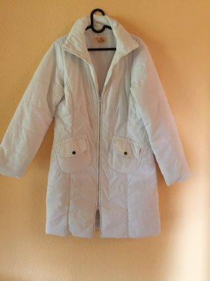 Cappotto con cappuccio bianco