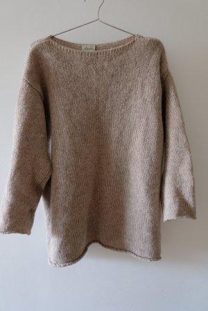 Winterpulli aus Wolle und Alpak a