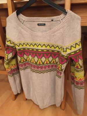 Marco Polo Wełniany sweter Wielokolorowy