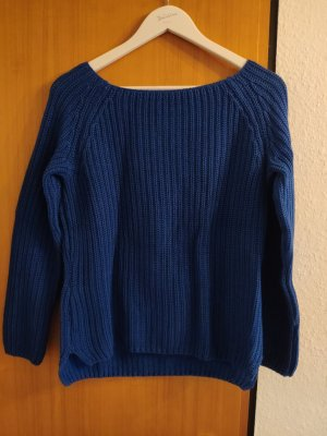 QS by s.Oliver Coarse Knitted Sweater blue