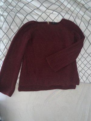 ATMOSPHÄRE Sweter z dzianiny brązowo-czerwony-bordo