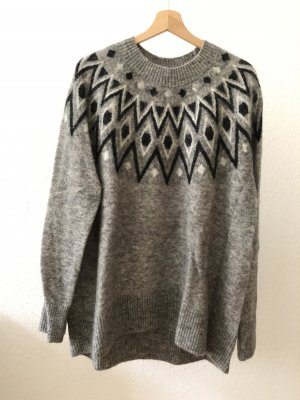 H&M Maglione norvegese grigio
