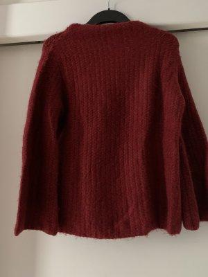 Winterpullover von Zara, Größe 38 in dunkelrot