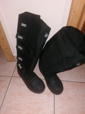 Riding Boots black-silver-colored