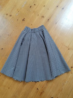 Atelier Belle Couture Falda circular blanco-negro
