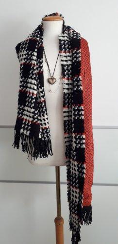 Handmade Écharpe en laine multicolore