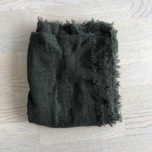 H&M Divided Woolen Scarf dark green